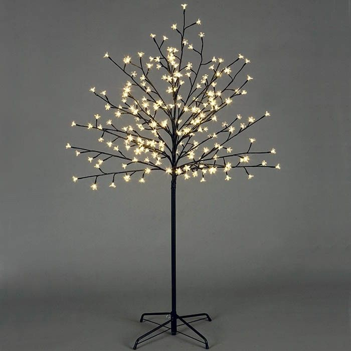 P This Unique Glowing Twig Christmas Tree Features 150 Warm White Led Lights That Will Illuminate The Trees Delicate Flower Like Petals The Branches Twig Tree