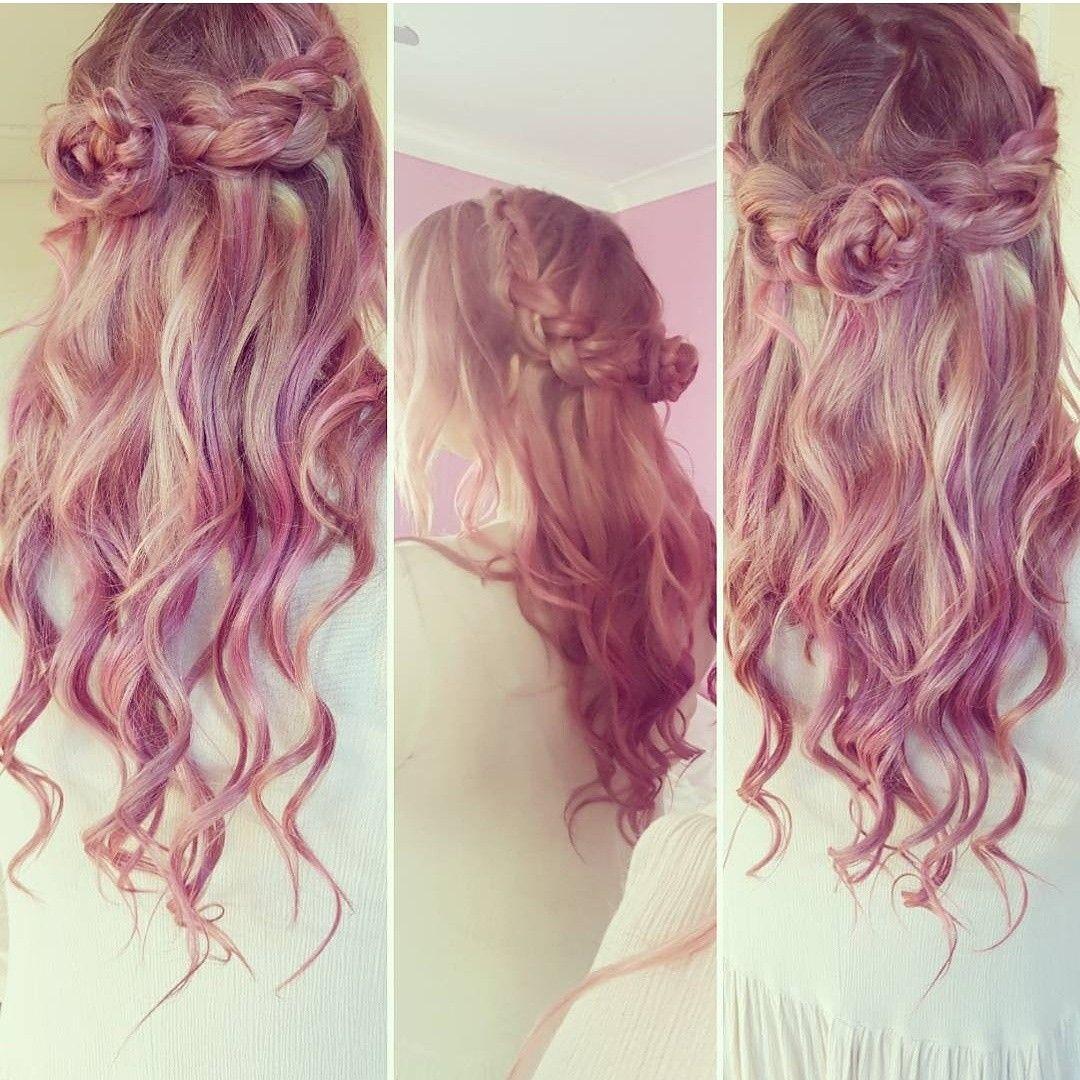 Pastel pink braided hair hair pinterest pastel pink and hair inspo