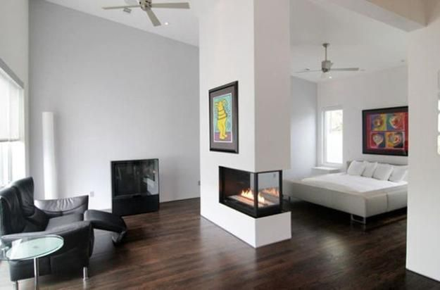 2 Sided Modern Fireplace