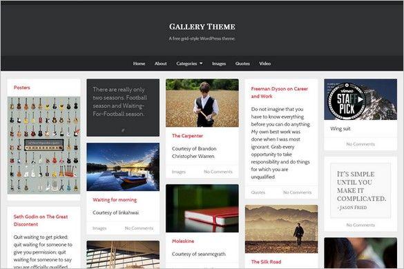 Gallery - A Free GPL WordPress Theme by UpThemes. | Free Wordpress ...