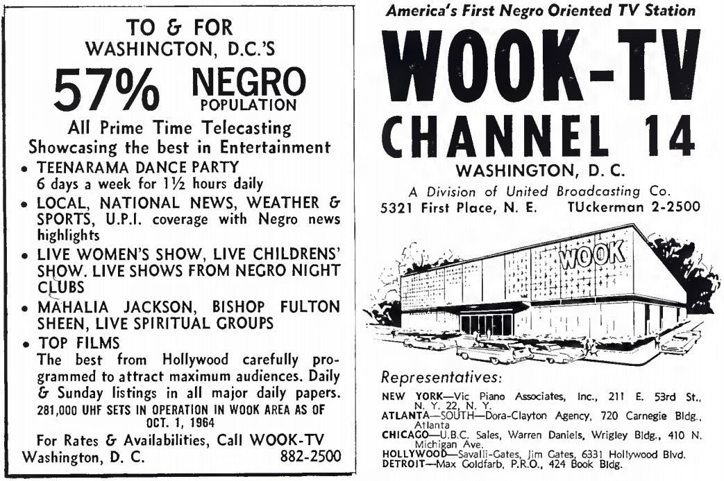Wook Tv Which Broadcast Teenarama Dance Party Was The First Black Oriented Television Station In The Country 1965 Broadcasti Television Tv Guide Tv Station