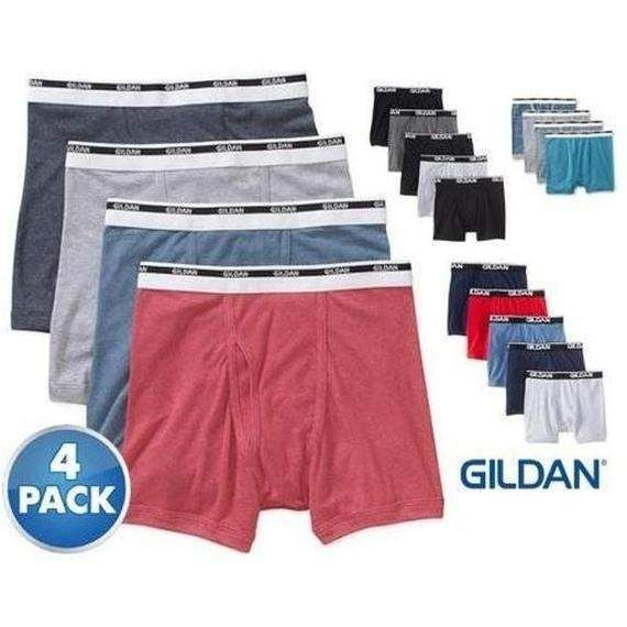 3d008cfa99ee 4-Pack] Gildan Men's 100% Cotton Boxer Briefs – 5 Sizes | Products ...