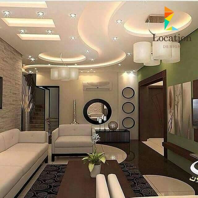 أجمل ديكورات صالات و أسقف جبسم بورد 2016 False Ceiling Living Room Ceiling Design Modern Bedroom False Ceiling Design