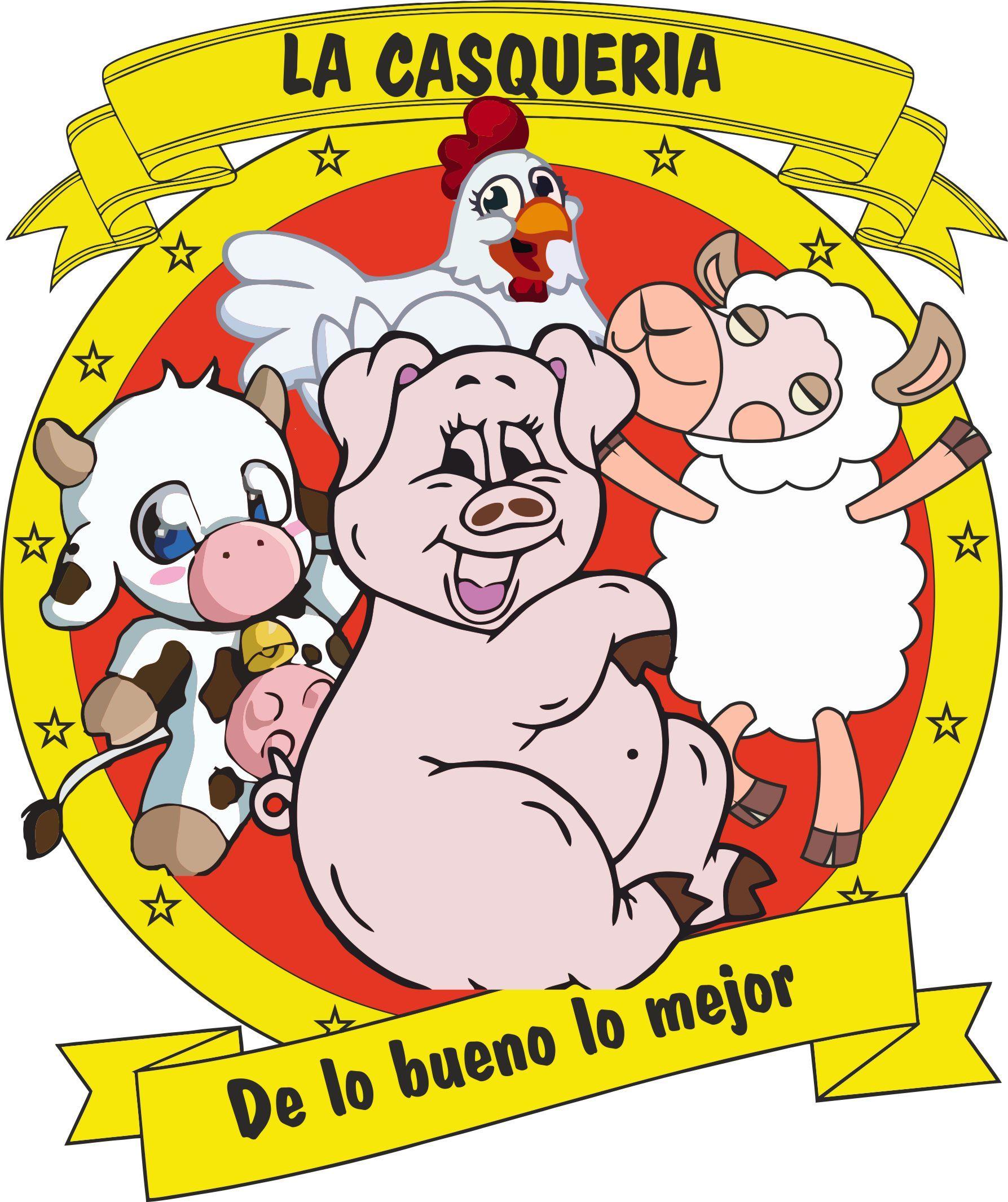 """Logotipo diseñado para """"La Casquería"""" del Mercado del Marrubial en Córdoba"""