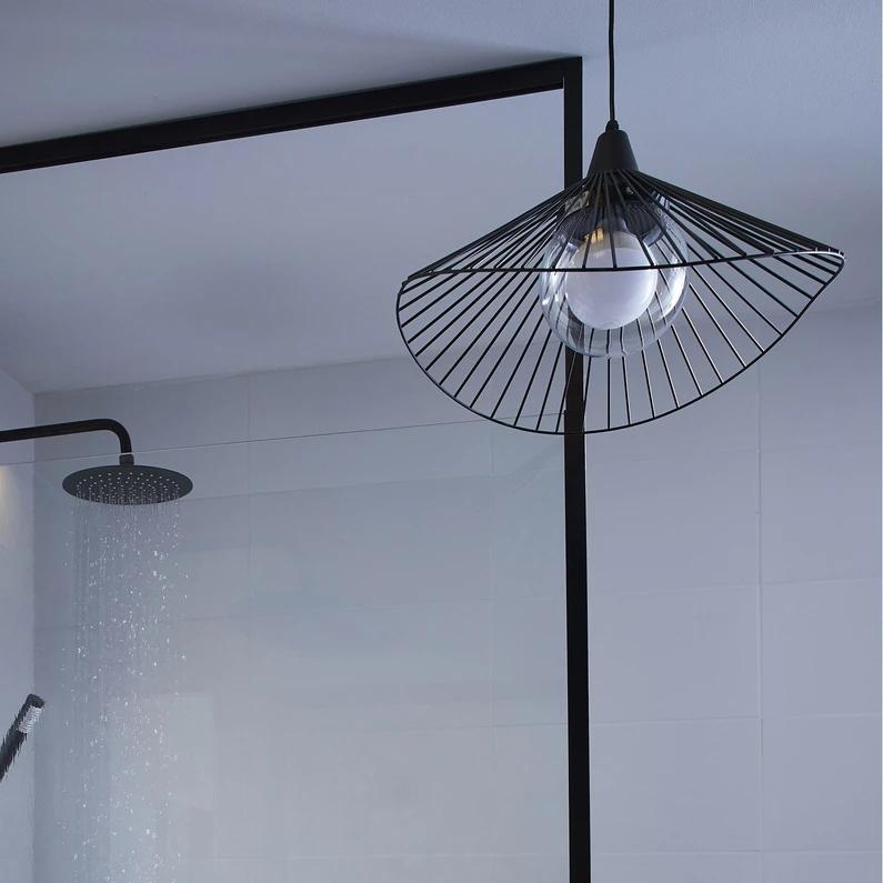 Suspension Kasteli Sans Ampoule Noir E27 Inspire Leroy Merlin Ampoule Deco Sdb Suspension