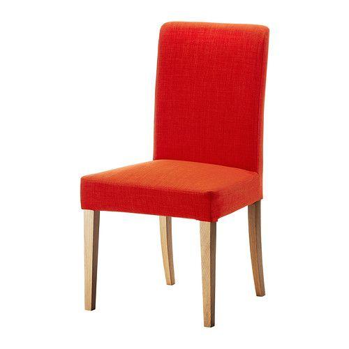 HENRIKSDAL Stoel - Skiftebo oranje, eiken - IKEA - Inrichting kamer ...