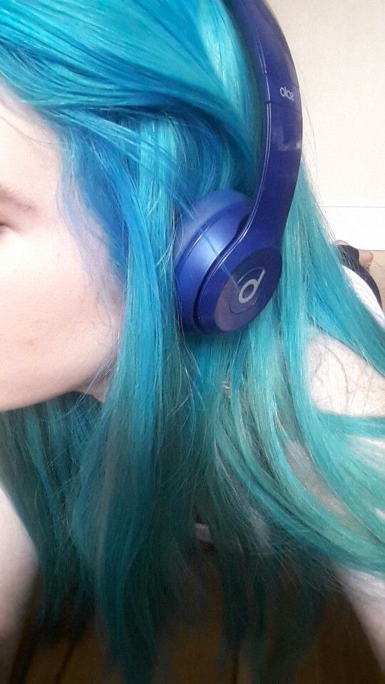 Finally Got My Blue Hair Mixed Bubblegum Blue And Sky Blue Crazy