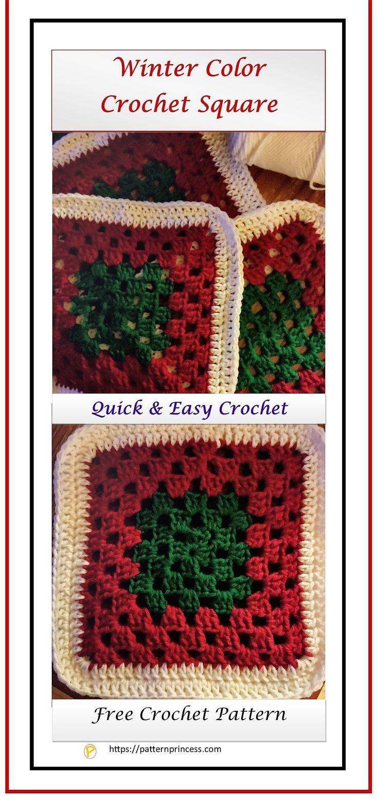 Winter Color Crochet Square