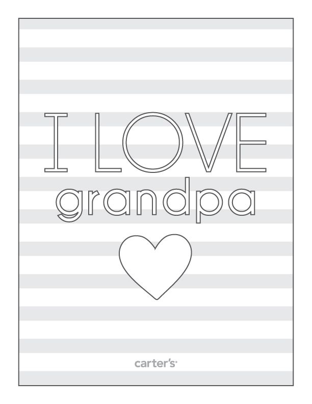 I love you Grandpa on the occasion of fatheru0027s day u2013 Fatheru0027s day - new christmas coloring pages for grandparents