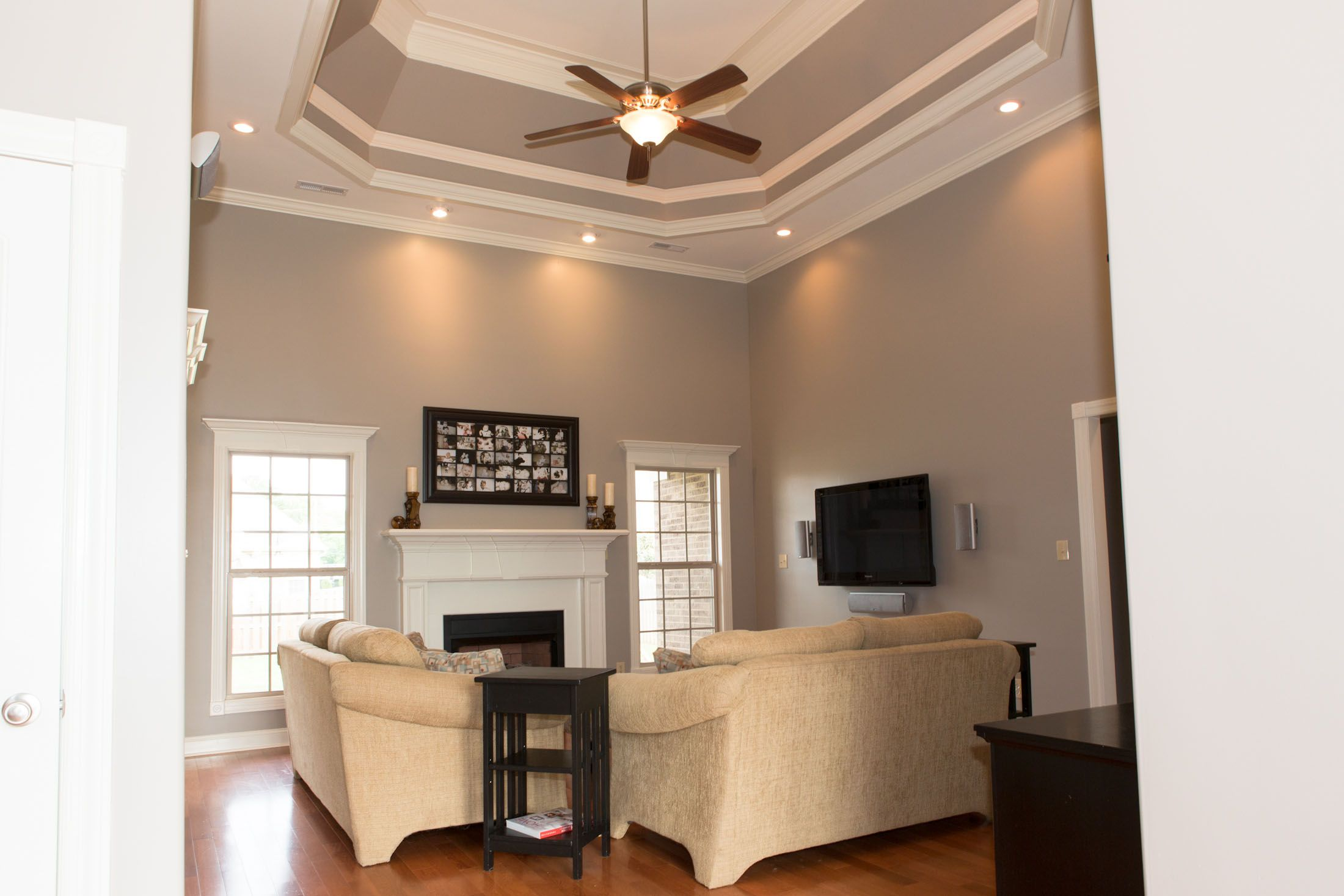 Family Room Behr Perfect Taupe Taupe Living Room Taupe Paint