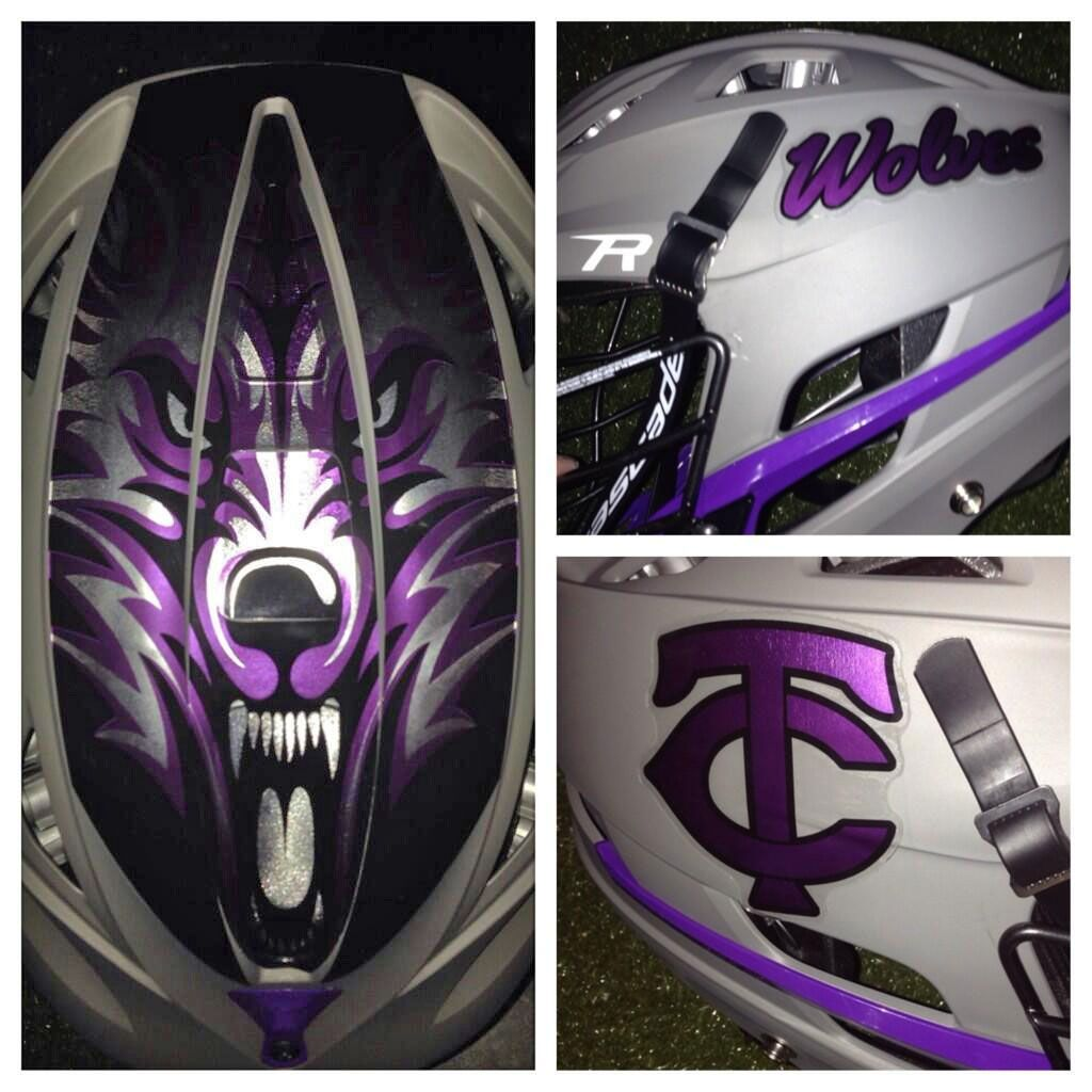 Timber Creek High School In Orlando Florida Chrome Decal Kits With - Motorcycle helmet decals kits