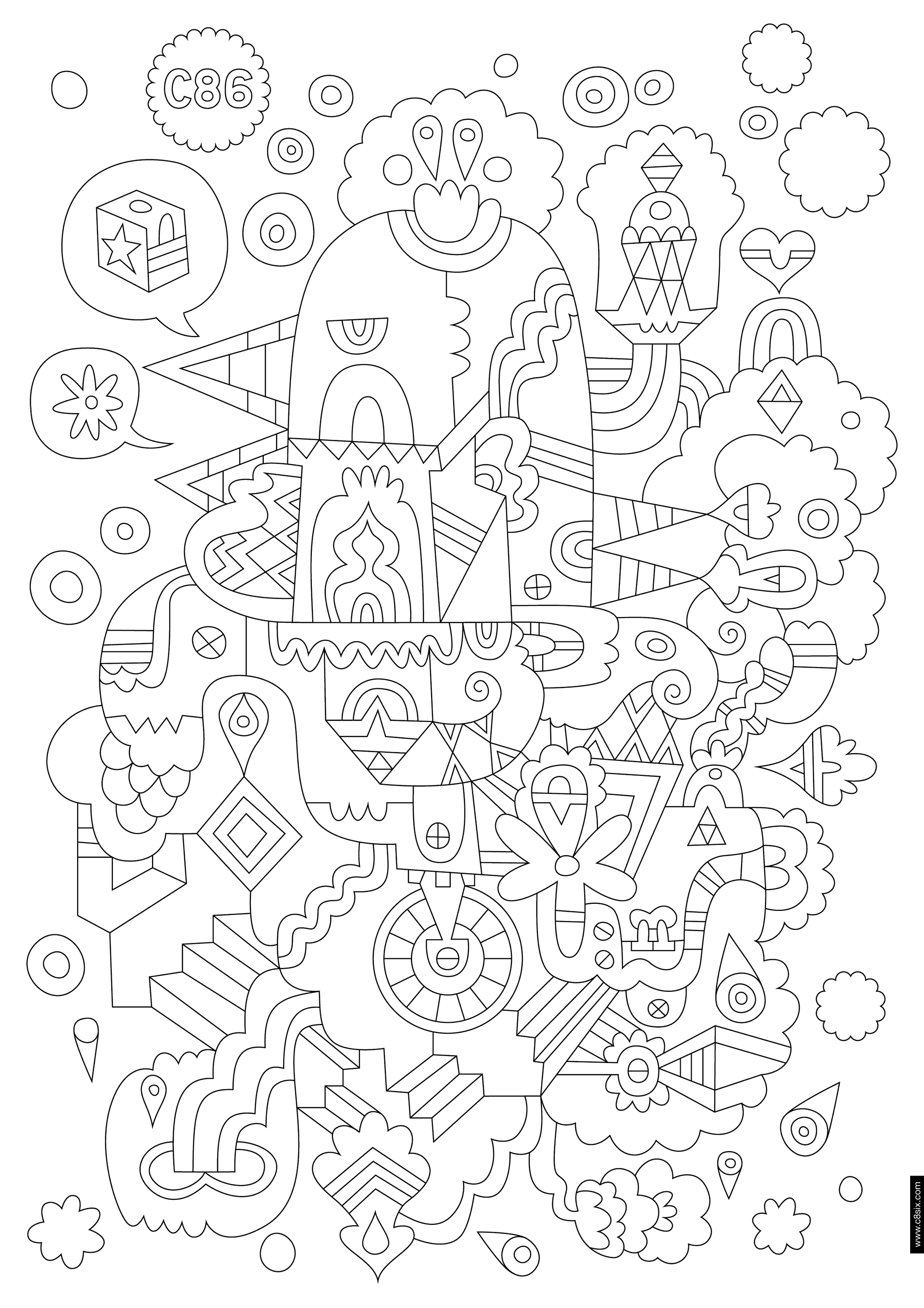 Coloring page   zentangles   Pinterest   Colorear, Pintar y Mandalas