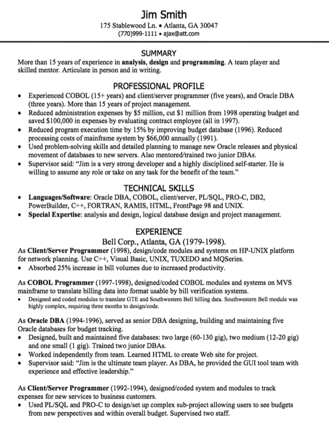 Programming Resume Sample  HttpExampleresumecvOrgProgramming