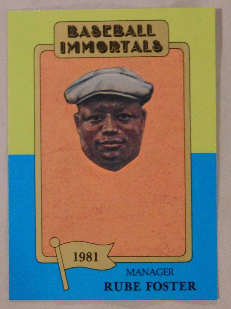 1980 Sspc Baseball Immortals Rube Foster Negro League