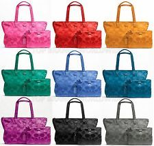 Coach signature nylon packable weekender bag duffle travel tote ...