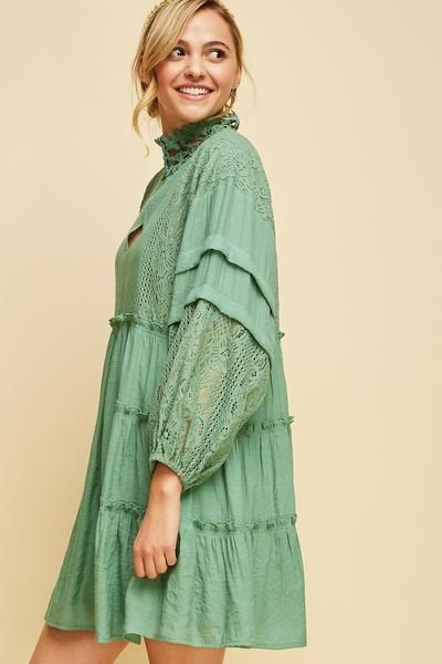 Enchanted Forest Dress In Sage