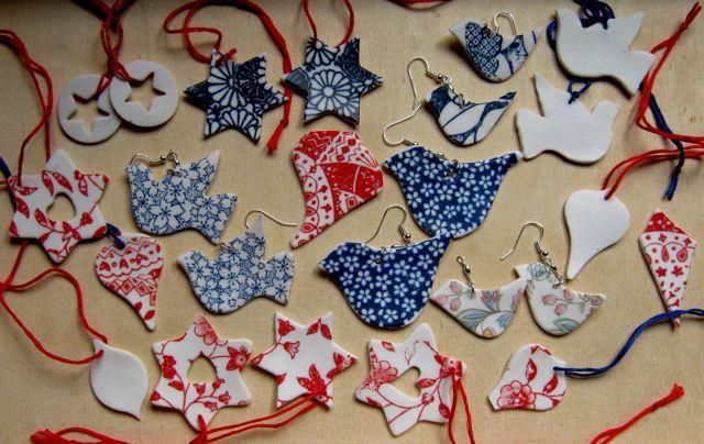 Porcelain Christmas ornaments