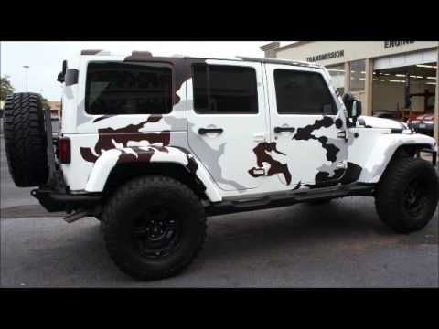 Deviate Autosport Slim Thug S White Camo Wrapped Jeep