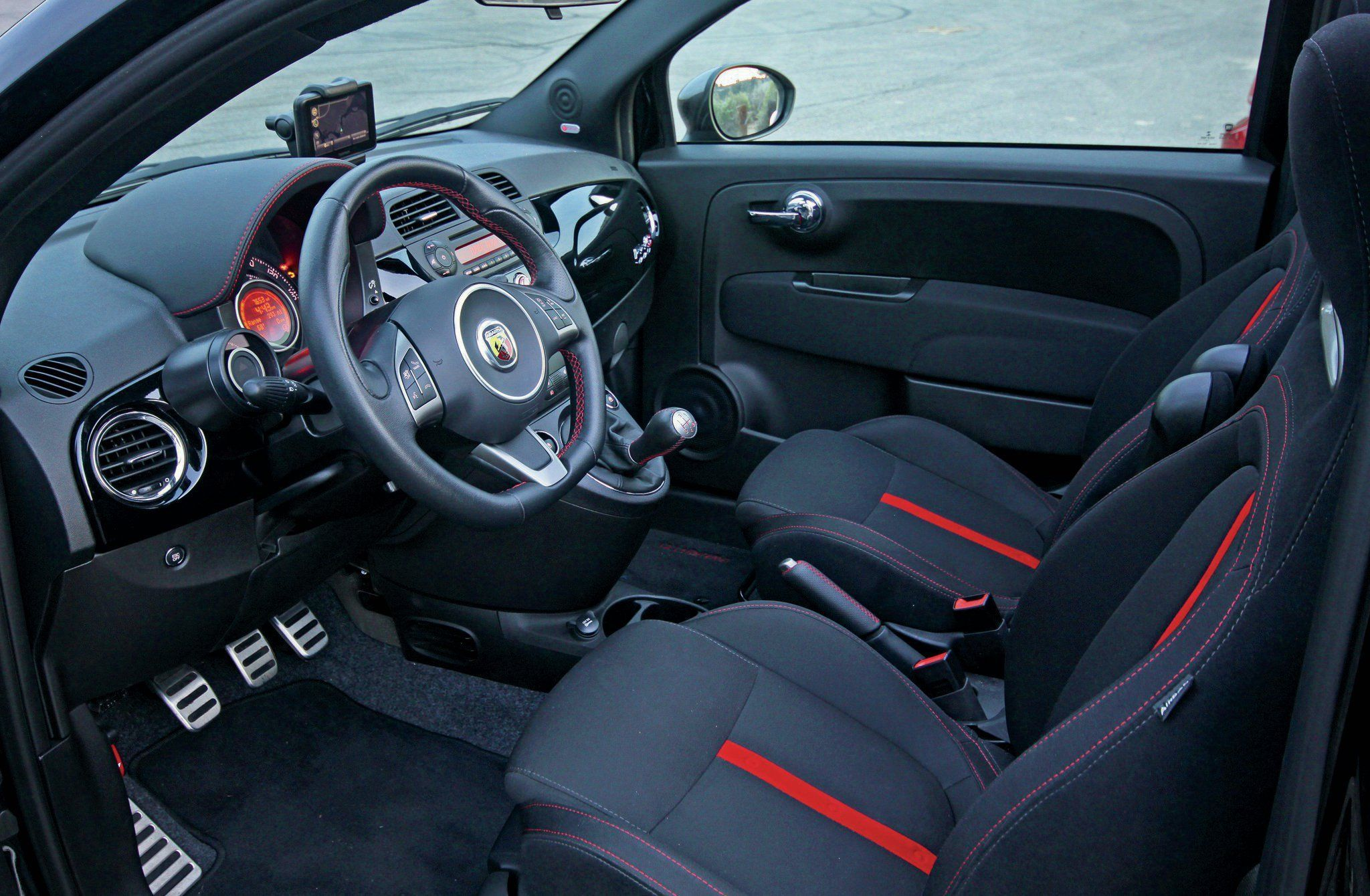 2014 Fiat 500c Abarth Interior Con Imagenes Volantes