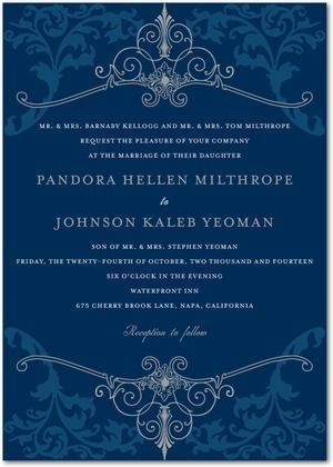Signature White Wedding Invitations Regal Refinement httpwww
