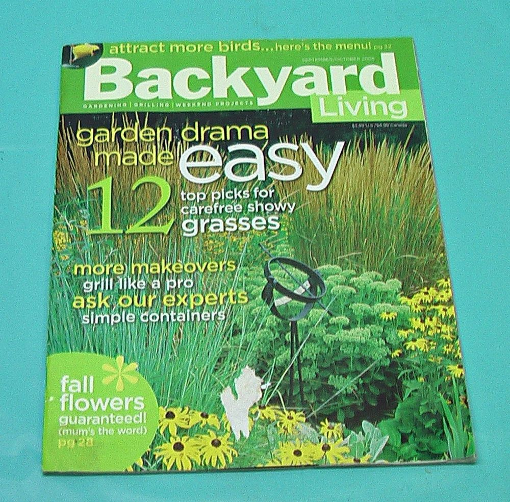 Backyard Living Magazine Grasses Birds Makeovers Grill Flowers Carrot  Recipes