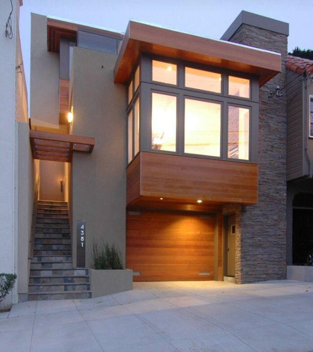 Mistura de elementos Casa Pinterest Elementos, Fachadas y - fachada madera