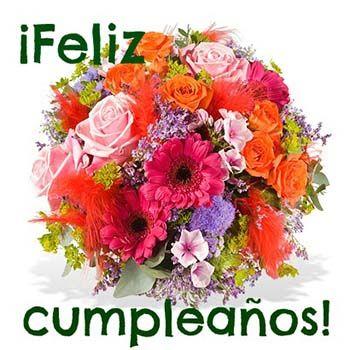 Flores Para Cumpleaños Feliz Cumpleaños Saludos De