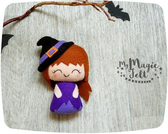 Halloween voelde decor beetje Witch sieraad voelde door MyMagicFelt