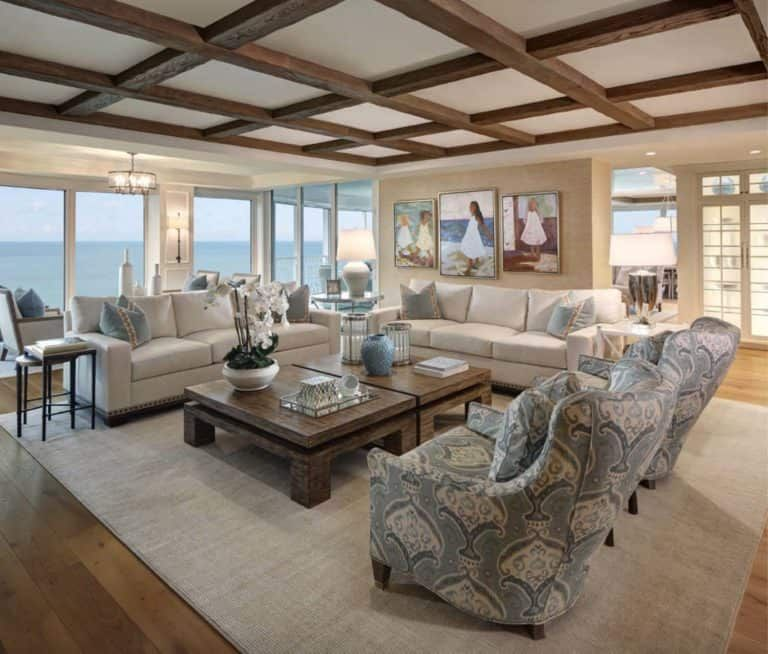 Florida Condo Decorating Ideas: Beach Style Condo Boasts Magnificent Views Of The Gulf Of
