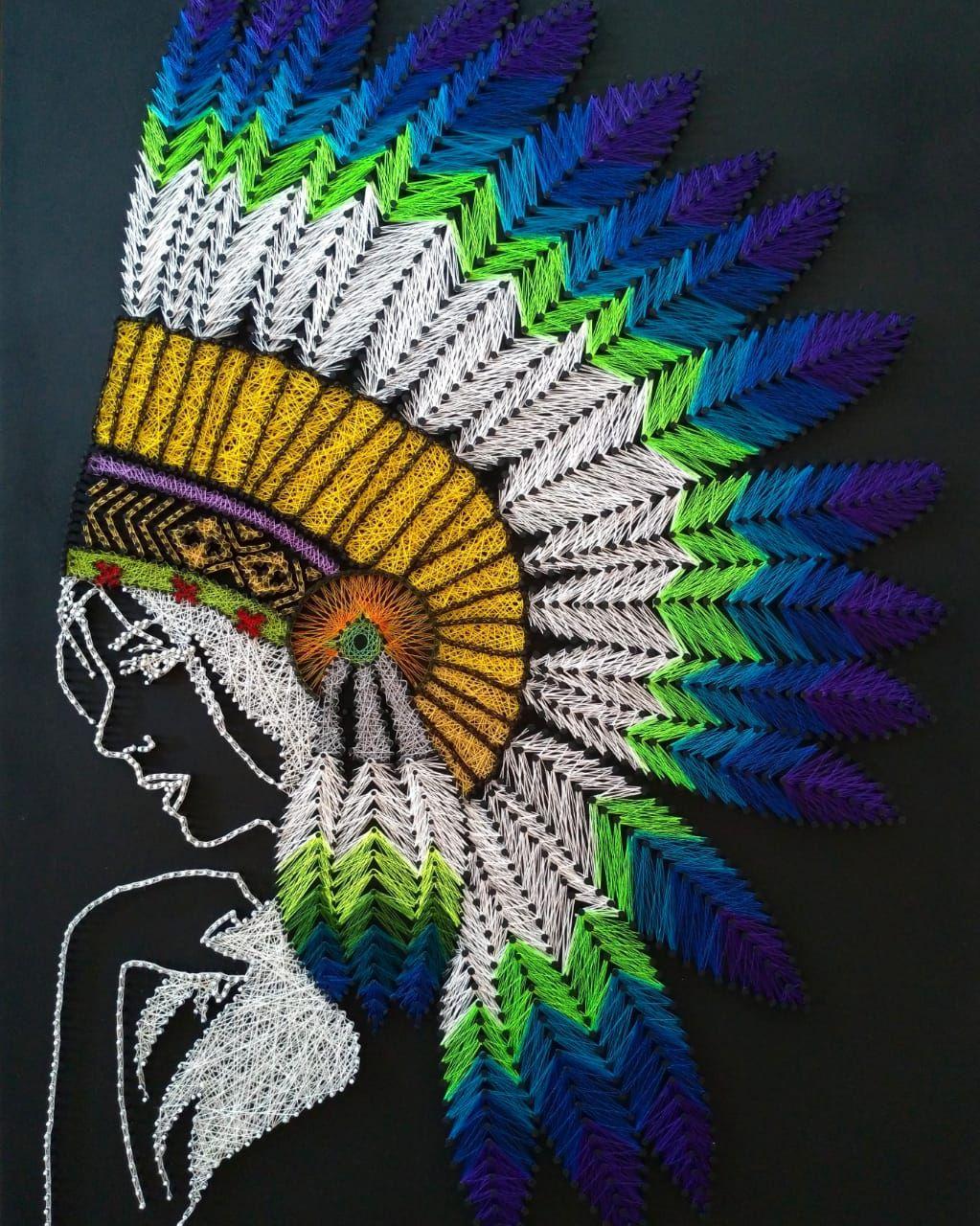 ✒️Índia Cocar Americano. Native American. Aprox. 1500 pontos, 70x50cm. Encomenda do cliente irmão @thiagoofreitas_ 👊✒️ #stringartist #stringart #hilostensados #hilosmagicos #filografi #artelinear #indio #american #americanindian #indioamericano #cocar #crafts #elo7br #elo7feitoamao #handmades #feitoamão #artesanato #artesanatodeluxo #indios #nativeamerican #native #nativo #arts #diy #handmadecrafts #artesanatoemmdf #artesanatos #northamericanindians