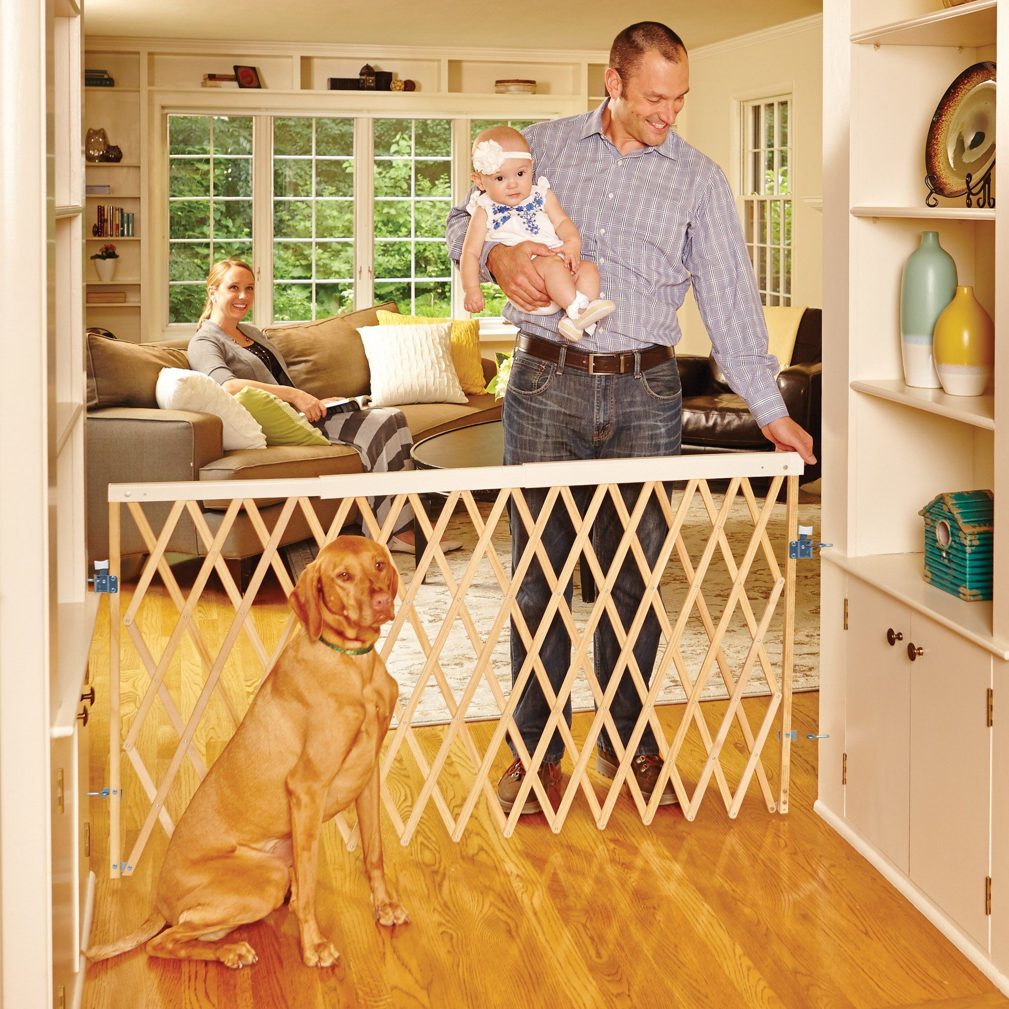 "North States Expandable Swing Pet Gate, 30"" L x 30"" H, 30"