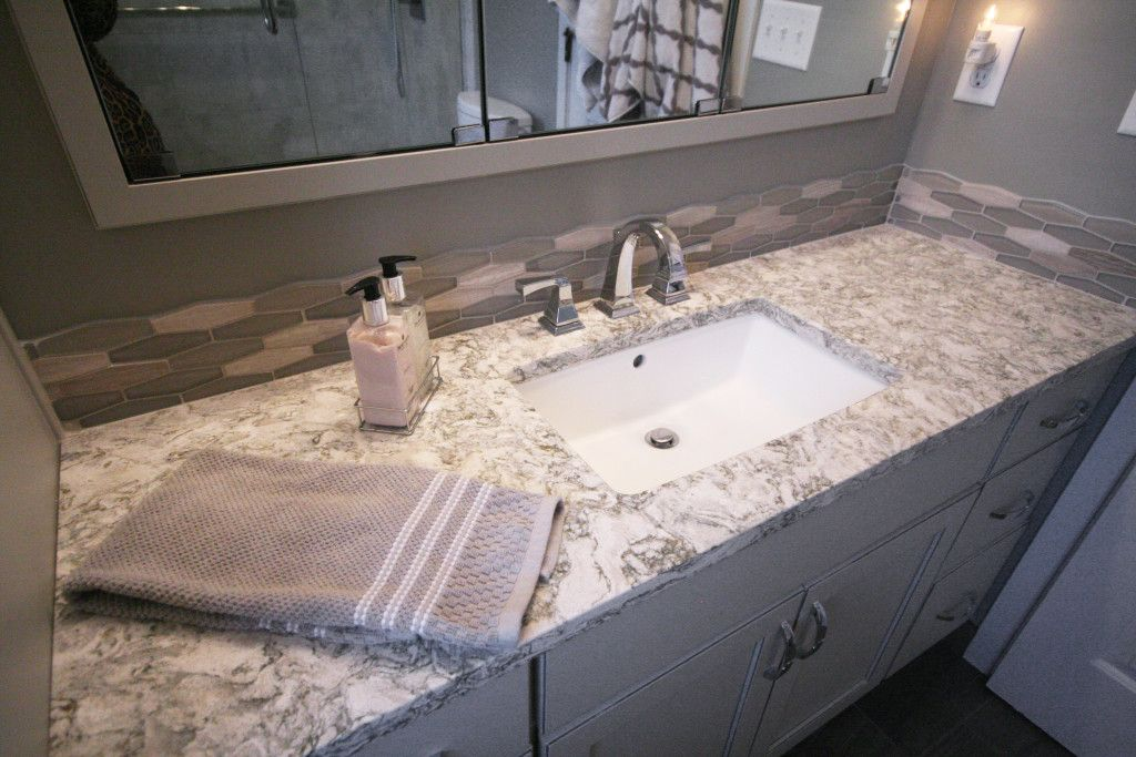Cambria quartz berwyn bathroom countertops dreammaker for Bathroom ideas with quartz