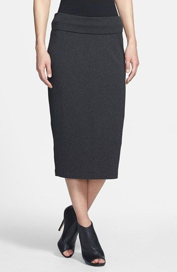 c3f105db8 Eileen Fisher Foldover Straight Midi Skirt available at #Nordstrom ...