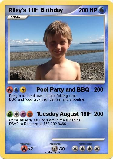 pokemon birthday card maker