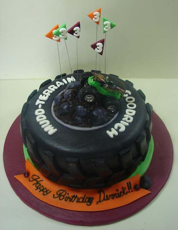 Superb Jmc Custom Cakes Gallery Monster Truck Childs Birthday Theme Funny Birthday Cards Online Overcheapnameinfo