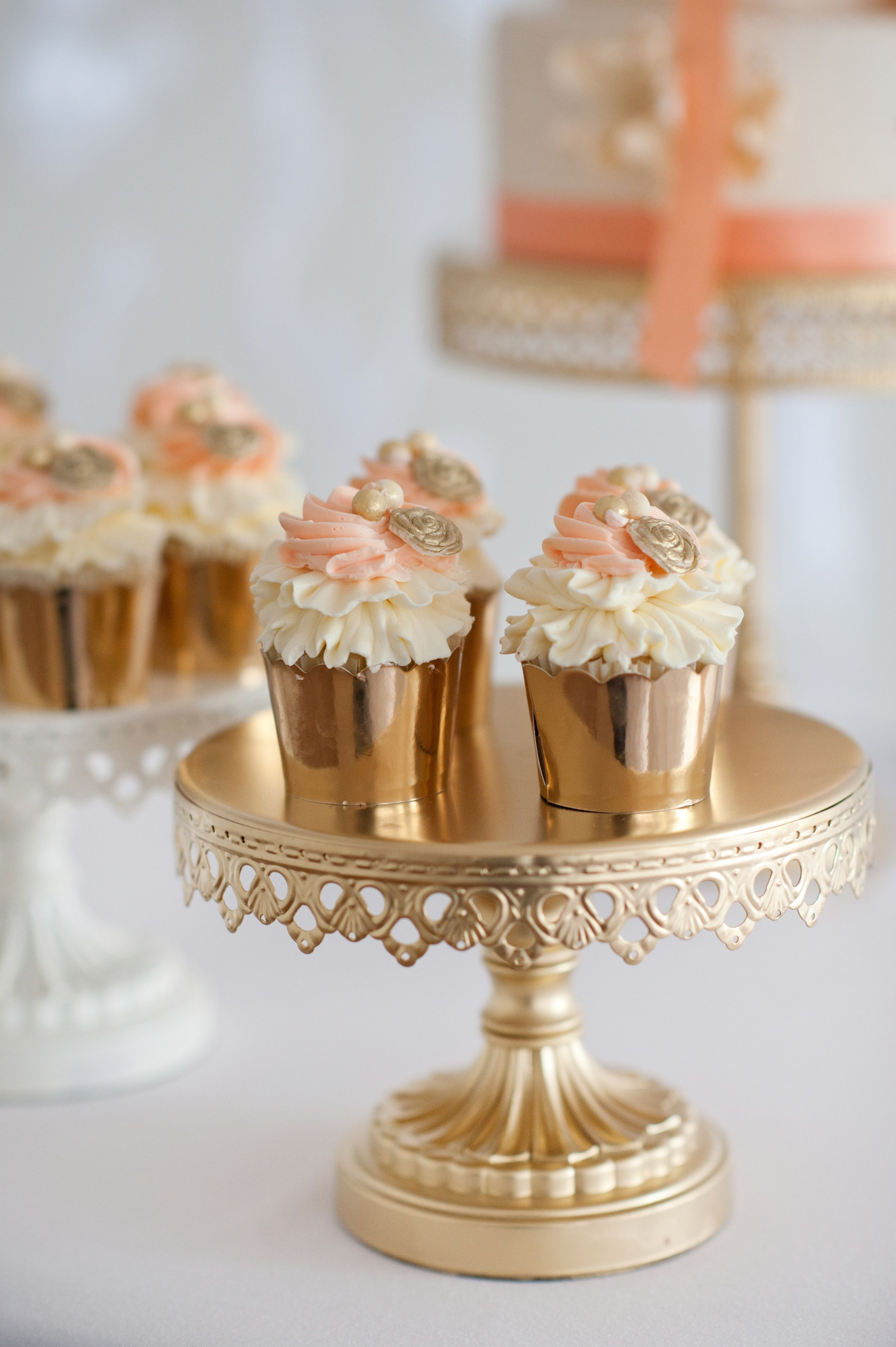 Copper Cupcake Holders Rachel Peters Photography