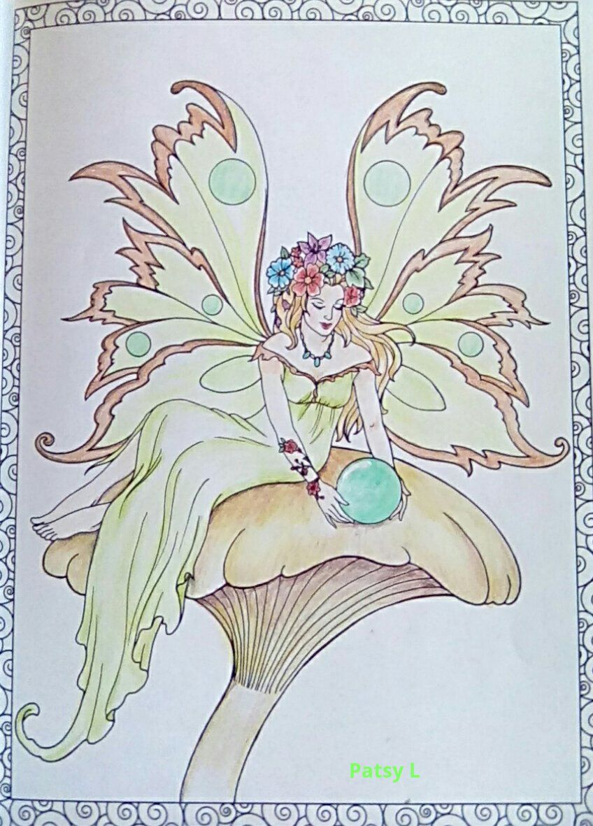 Pin by Pamela Satterlee on fairies | Fairy coloring ...
