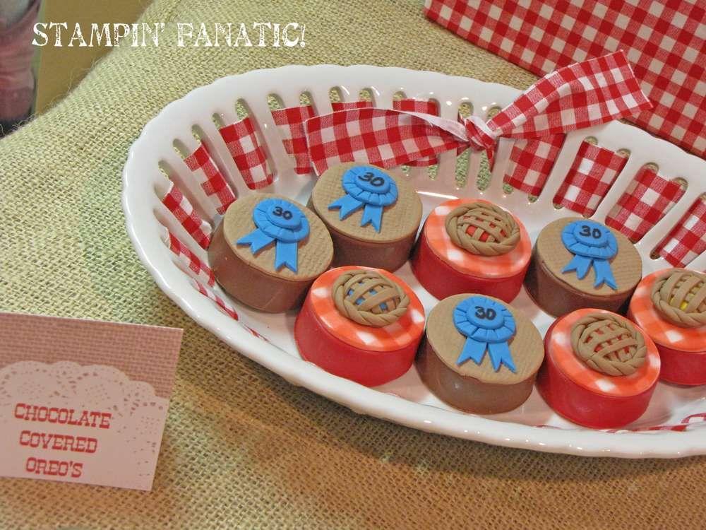 Blue ribbon bash bbq theme party bbq