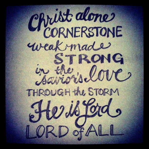 Jesus is the cornerstone song lyrics