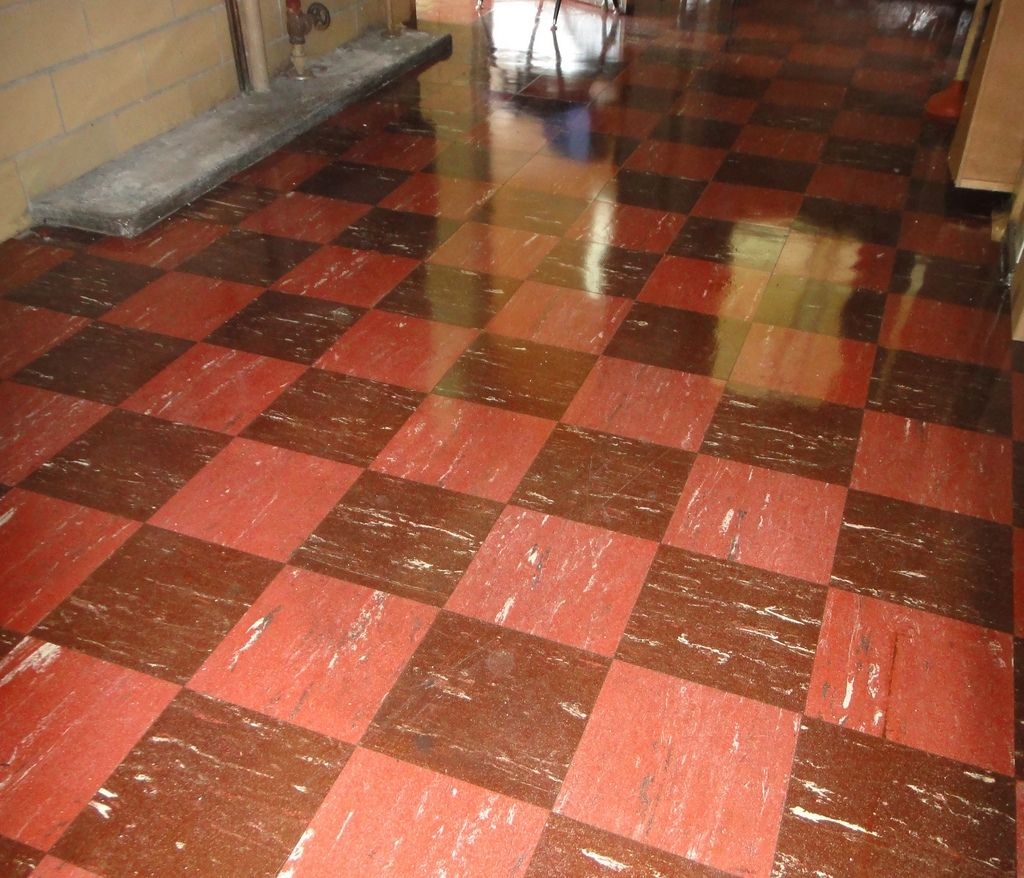 Waxing Asbestos Floor Tiles Asbestos Tile Checkered Floors Tile Floor