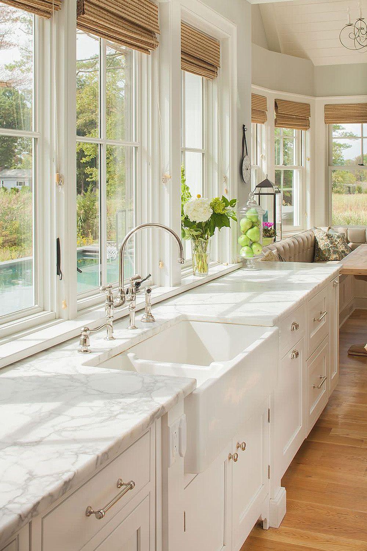 31 Luxury Calacatta Gold Marble Backsplash Countertop Ideas Kitchen Window Design White Kitchen Design Kitchen Design Small