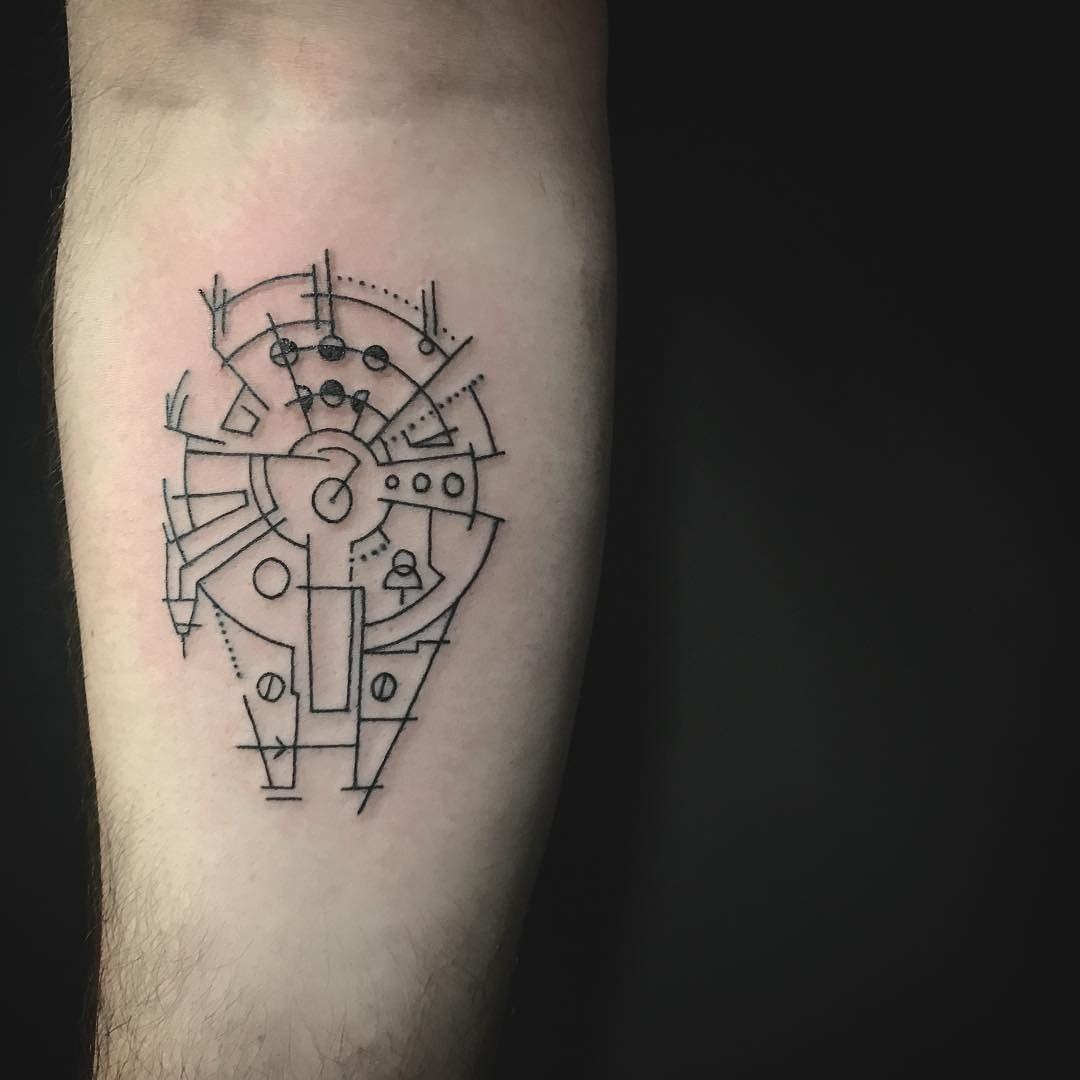 Straight Line Tattoo Artist Uk : Star wars fan simple line work tattoo starwars