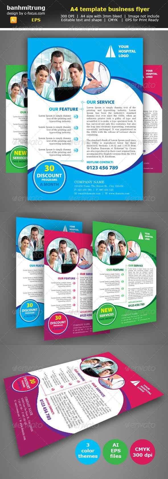 Hospital a4 flyer template flyer template a4 and template hospital a4 flyer template saigontimesfo