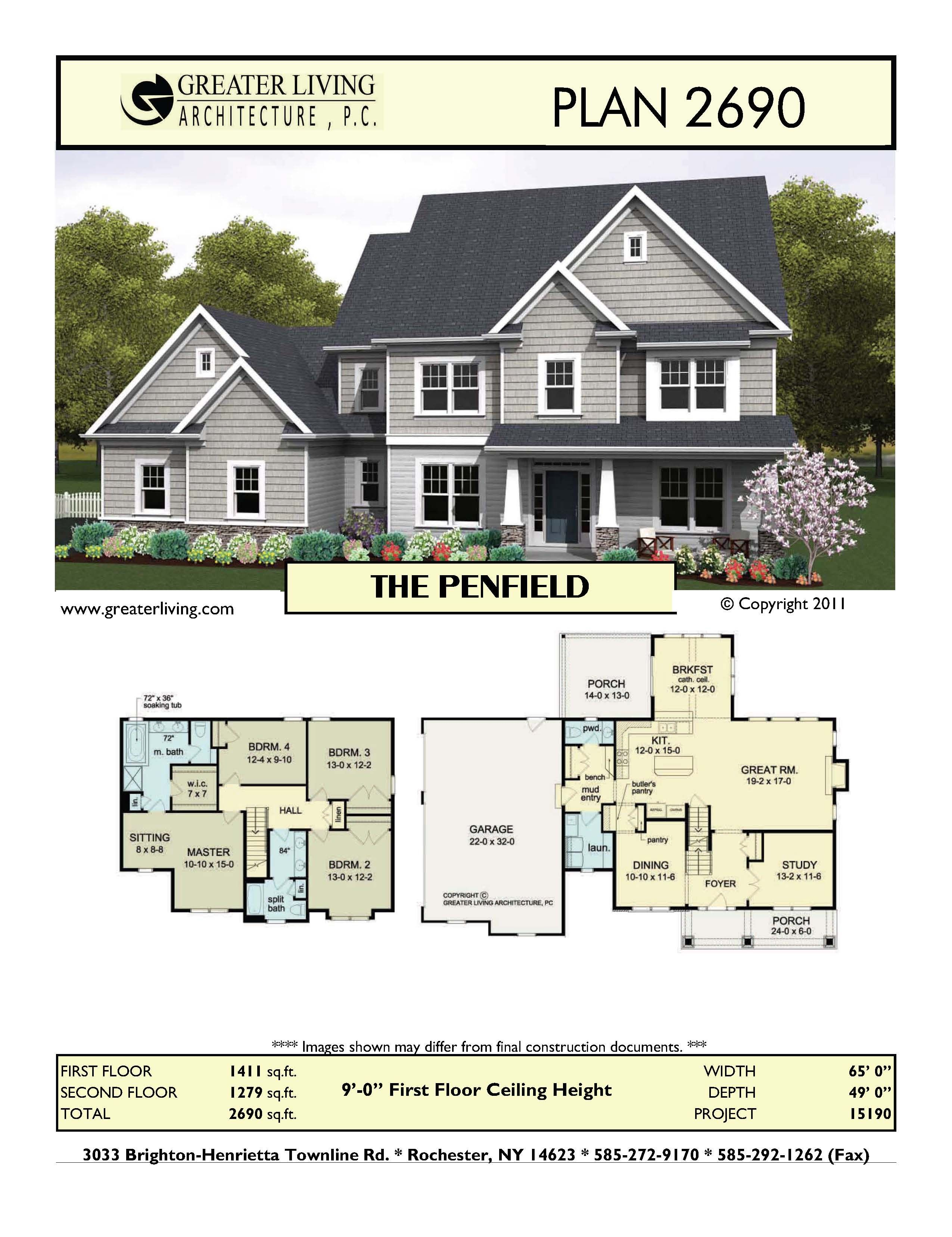 Plan 2690 THE PENFIELD (With images) Family house plans