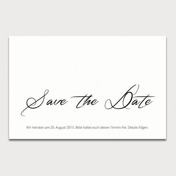 """save-the-date-karte """"blanko klassisch"""" - www.karten-selberdrucken, Einladungsentwurf"""