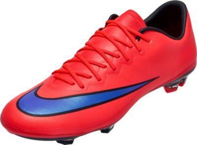 Limón Erradicar Monica  Nike Youth Mercurial Vapor X FG Soccer Cleats - Bright Crimson and ...