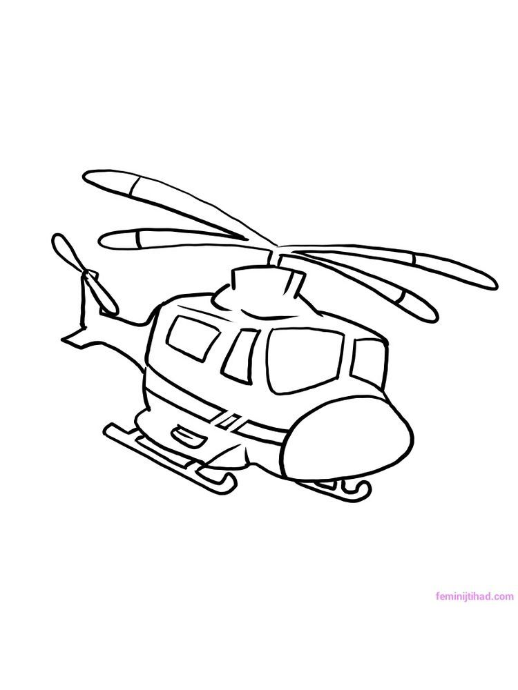 Helicopter Coloring Pages Printable Dengan Gambar