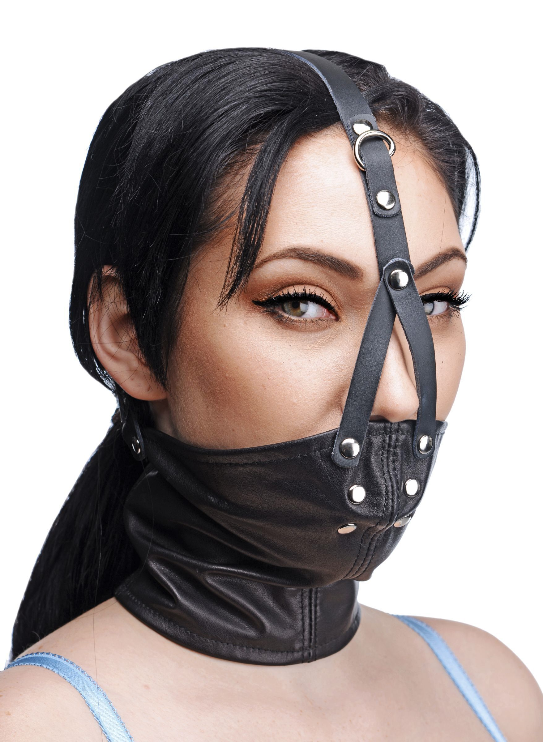 f682792961 Master Series Leather Neck Corset Harness Stuffer Gag - The Master Series Leather  Neck Corset Harness Stuffer Gag is designed to fit most neck sizes and is  ...