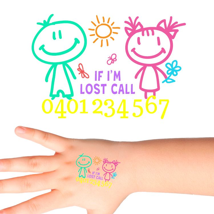 Smiles Personalised Safety Tattoos 515 (32 pack