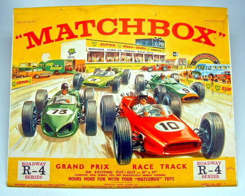 Matchbox R 4b Roadway Grand Prix Race Track 1964 Made In New Zealand